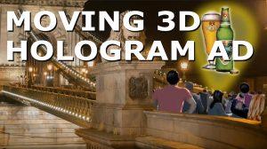 moving 3d hologram